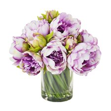 Peony Water Floral in Glass Pot