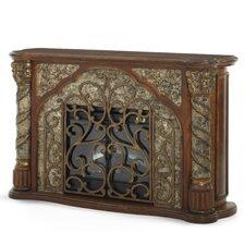 Villa Valencia Decorative Fireplace in Chestnut