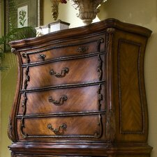 Chateau Beauvais 4 Drawer Gentleman's Chest Top