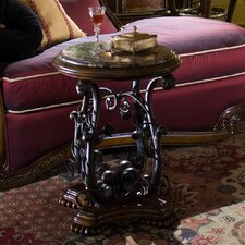 Oppulente Metallic Chairside Table
