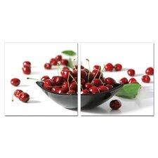 Cherry Bowl 2 Piece Photographic Print Set