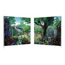 Antique Garden 2 Piece Painting Prints Set