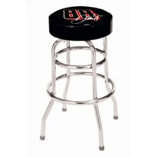 "NASCAR Double Rung 30"" Bar Stool with Cushion"