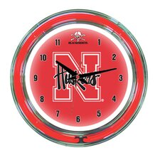 "NCAA 14"" Team Neon Wall Clock"
