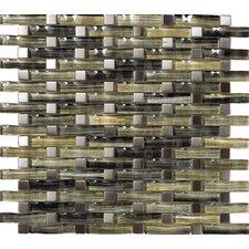 Aqua Metal, Glass Mosaic Tile in Silver