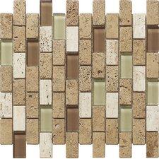 Pompeya Navona Stone Composite, Glass Mosaic Tile in Stone