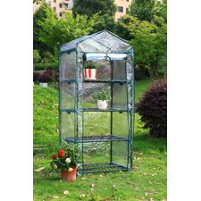 4 Tier 1.5 Ft. W x 2.5 Ft. D Growing Rack Greenhouse