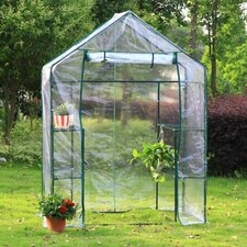 2.5 Ft. W x 6.5 Ft. D 2-Sided Walk-in Greenhouse
