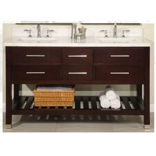 "Priva 60"" Double Open Bathroom Vanity Set"