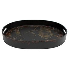 Embossed Oval Serving Tray