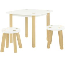 Kaleidoscope 3 Piece Table & Stool Set