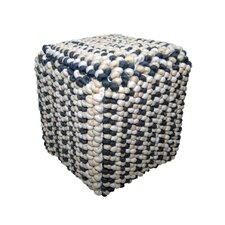 Willa Square Button Pouf Ottoman