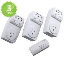 4 Piece Remote Control Switch Set