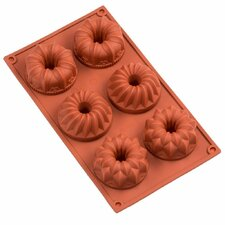 Sorbus 6 Cavity Silicone Fancy Mini Bundt Cake Pan