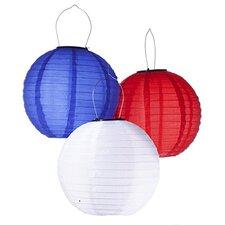 Solar Powered Waterproof Oriental LED Light Up Chinese Lantern (Set of 3)