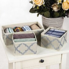 3 Piece Drawer Dresser Organizer Set