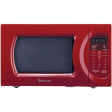 0.9 Cu. Ft. 900W Countertop Microwave in Red