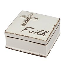 Accents of Faith Worn Medium Faith Trinket Box (Set of 4)