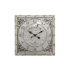 "Heartland Old South 20"" Metal Square Wall Clock"