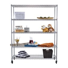 "NSF Extra Large Commercial Grade 77"" H 4 Shelf Shelving Unit"