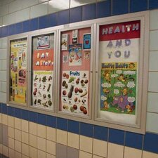 Recessed Glazed Wall Mounted Enclosed Bulletin Boards