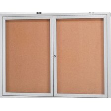 Wall Mounted Enclosed Bulletin Board