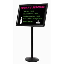 Dual Capability Neon Free-Standing Bulletin Board and Menu or Poster Holder