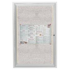 Enclosed Wall Mounted Bulletin Board, 3' x 2'