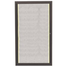 Enclosed Wall Mounted Cabinet Bulletin Board, 3' x 2'