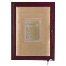 LED Lighted Enclosed Wall Mounted Bulletin Board