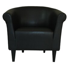 Savannah Faux Leather Club Chair