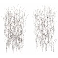 2 Piece Iron Werks Winter Thicket Wall Décor Set