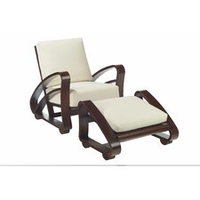 Cuban Chair and Footstool Set