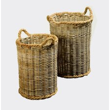 2 Piece Java Tall Roped Basket Set