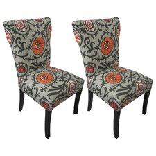 Willard Cotton Wingback Cotton Slipper Chair (Set of 2)