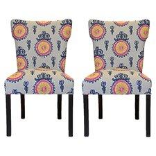 Calandra Cotton Wingback Cotton Slipper Chair (Set of 2)
