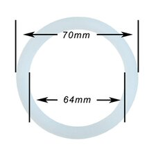Silicone 6 Cup for Stainless Steel Espresso Gasket (Set of 5)