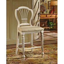 "Wilshire 23.25"" Bar Stool with Cushion (Set of 2)"