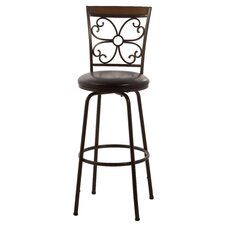 Garrison Adjustable Height Swivel Bar Stool with Cushion