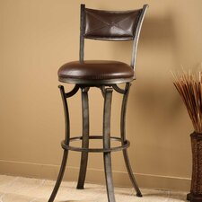 "Drummond 26"" Swivel Bar Stool with Cushion"