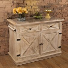Carter Kitchen Island with Marble Top