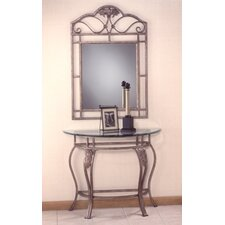 Bordeaux Console Table with Mirror