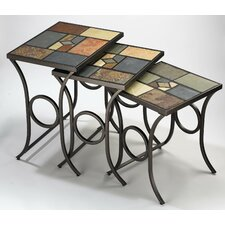 Pompei Slate 3 Piece Nesting Tables