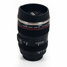 Camera Lens Coffee 12 oz. Mug with Lid