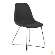 ARTIKA-X Wool Side Chairs with Chrome Base (Set of 4)