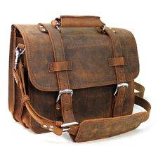 3-Tier Pro Leather Laptop Briefcase