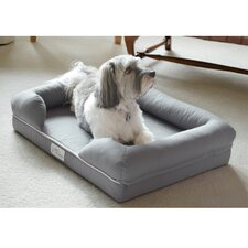 "PetFusion Ultimate Dog Bed & Lounge Premium Edition with Solid 4"" Memory Foam"