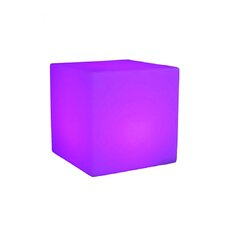 """16.14"""" H Cube Table Lamp with Square Shade"""