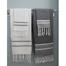 Fouta Herringbone Stripe 2 Piece Towel Set