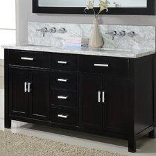"Hutton Spa 63"" Double Premium Bathroom Vanity Set with Mirror"